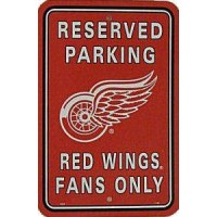 Detroit Red Wings Reserved Sign
