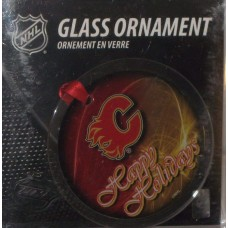 Calgary Flames Hanging Glass Ornaments