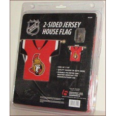 Two sided Jersey Flag Ottawa Senators