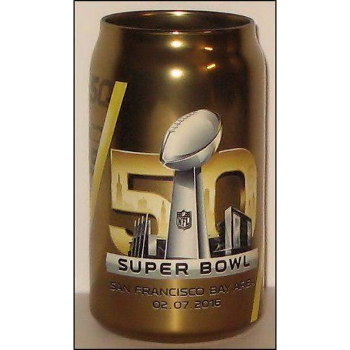 Super Bowl 50 Mirror Chrome Colour Glass Can