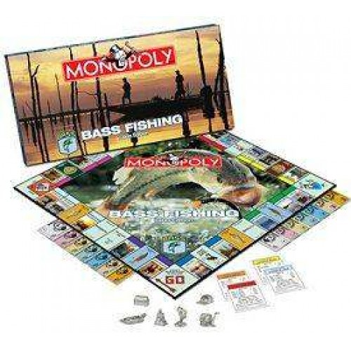 BASS FISHING LAKES MONOPOLY